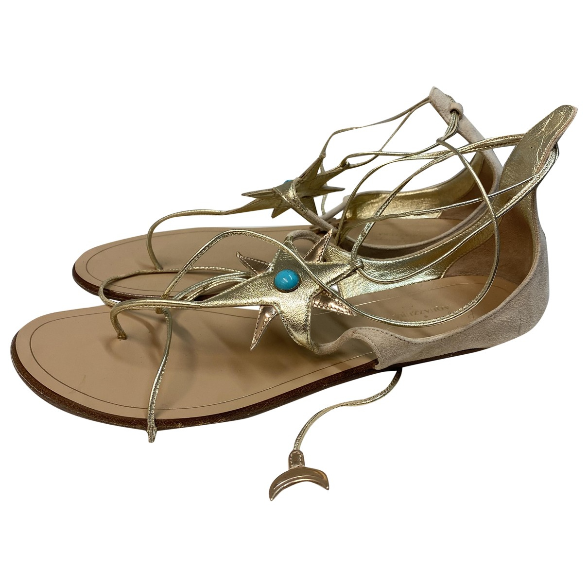 Aquazzura \N Sandalen in  Gold Leder
