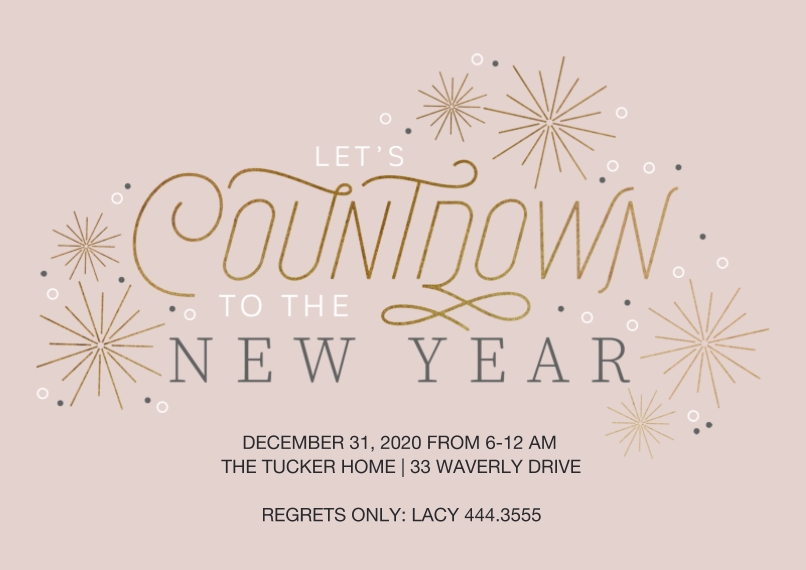 Christmas & Holiday Party Invitations Flat Matte Photo Paper Cards with Envelopes, 5x7, Card & Stationery -Countdown Party