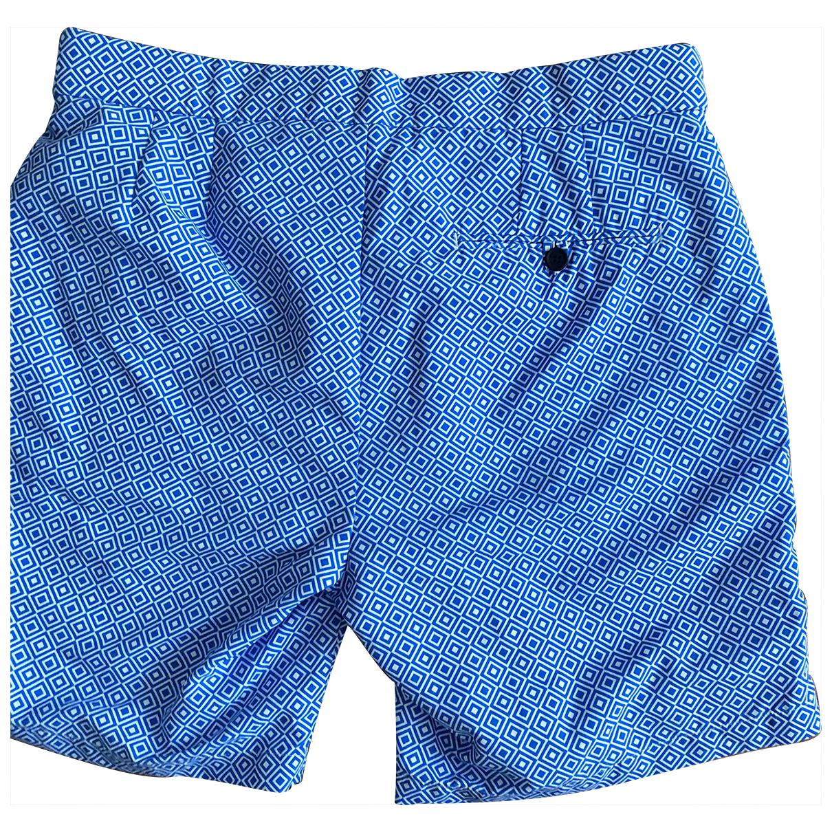 Frescobol Carioca N Blue Cotton - elasthane Swimwear for Men 32 UK - US
