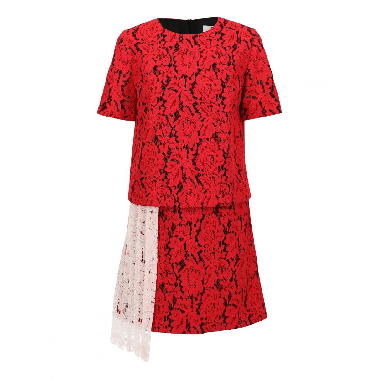 Msgm \N Kleid in  Rot Baumwolle