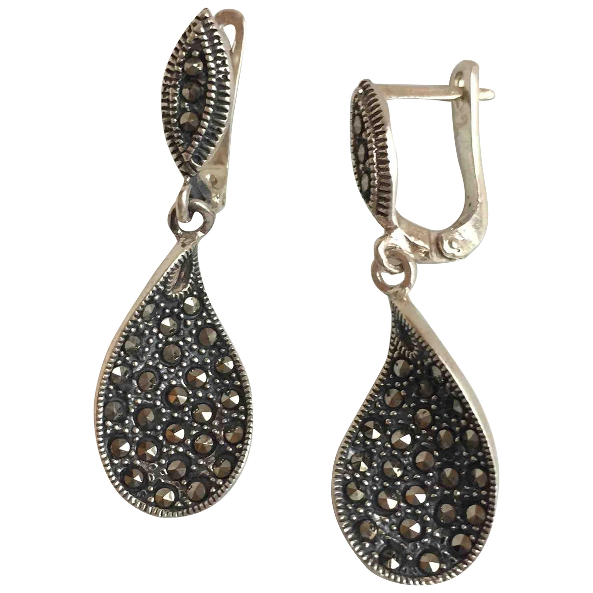 Non Signé / Unsigned Dormeuses Silver Silver Earrings for Women \N