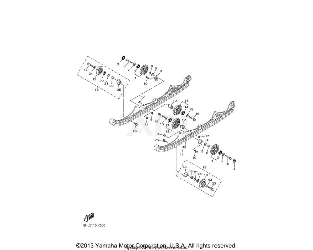 Yamaha OEM 8AC-47320-00-00 SUSPENSION WHEEL COMP. | AP