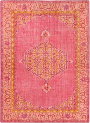 Zahra ZHA-4005 8' x 11' Rectangle Traditional Rugs in Bright Pink  Coral  Saffron  Bright Purple  Garnet