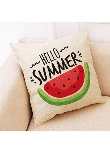 1pc 45 X 45cm Watermelon Print Pillow Case - One Size