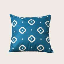 Flower Pattern Cushion Cover Without Filler