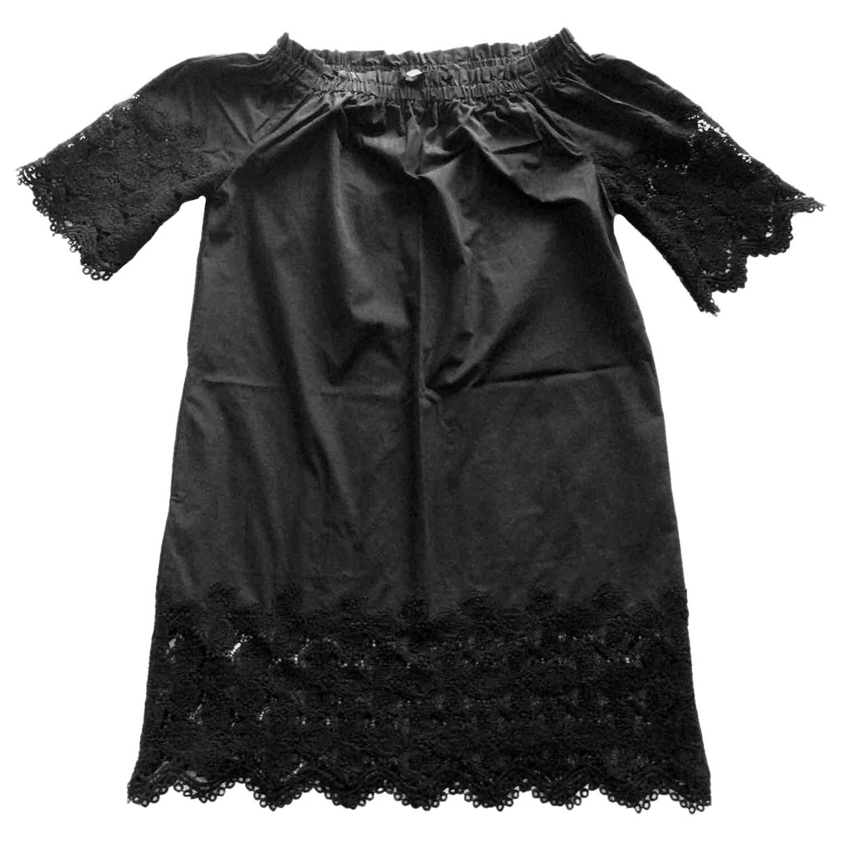 Mango \N Kleid in  Schwarz Baumwolle