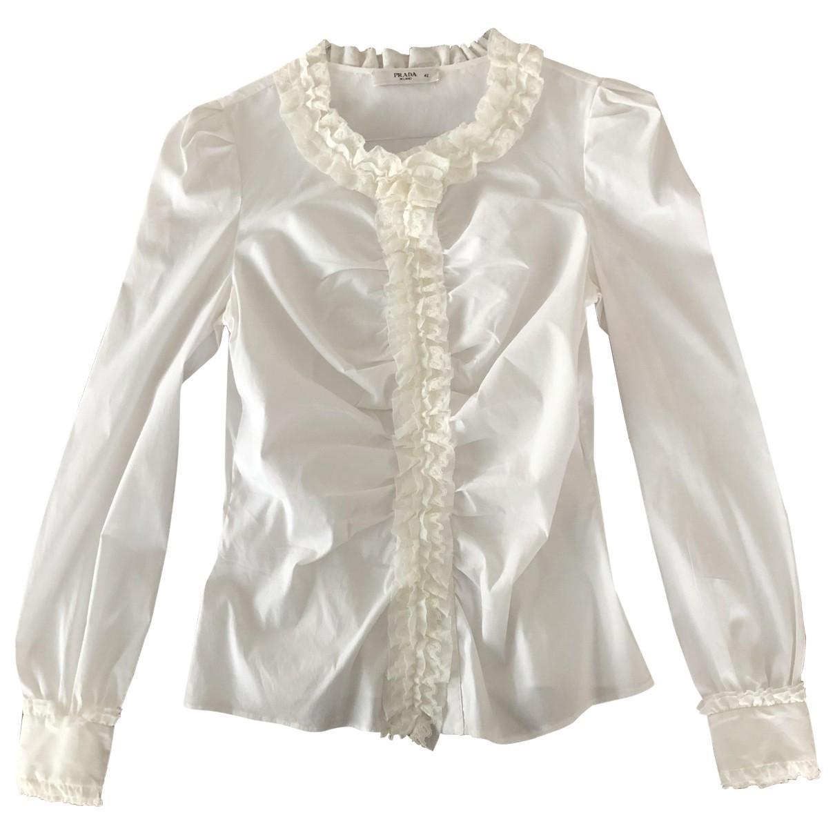 Prada \N White Cotton  top for Women 42 IT