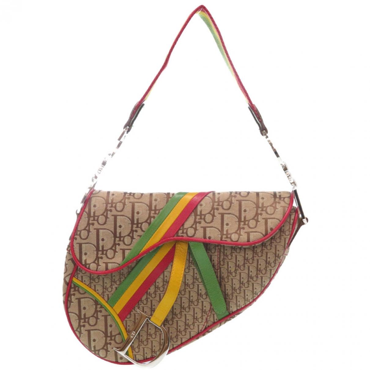Dior Saddle Brown Cloth handbag for Women \N