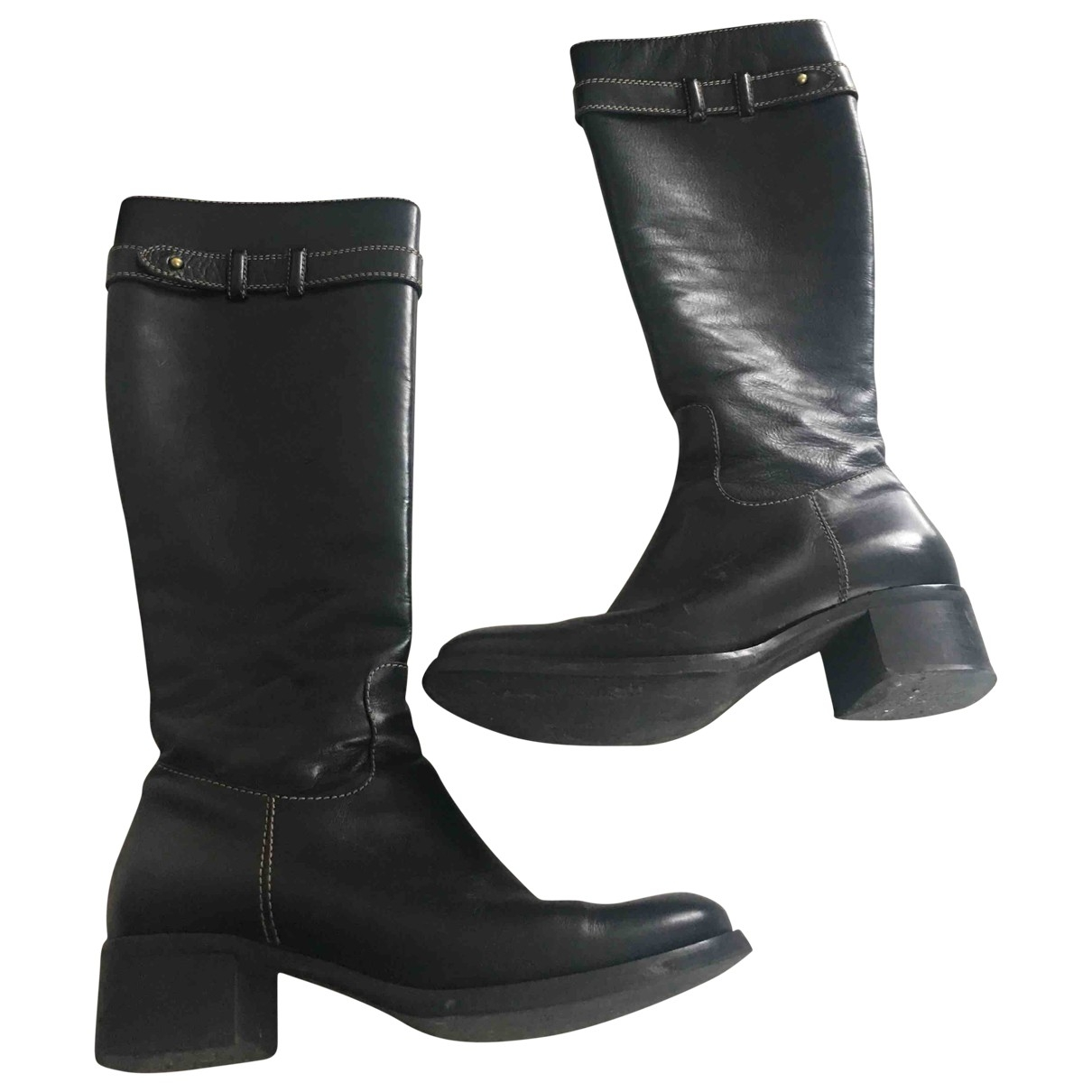 Coccinelle \N Black Leather Boots for Women 36.5 EU