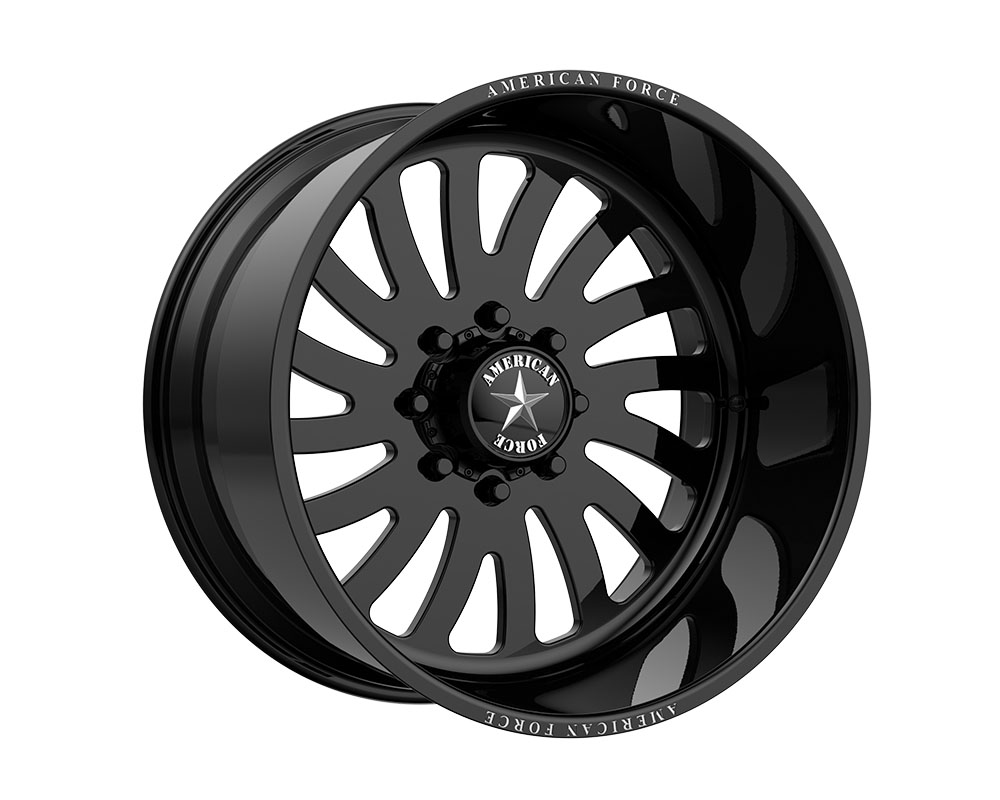 American Force AFTJ74LG24-2-20 AFW 74 Octane SS Wheel 22.00x12.00 8x180.00 -40mm Gloss Black - Left Directional