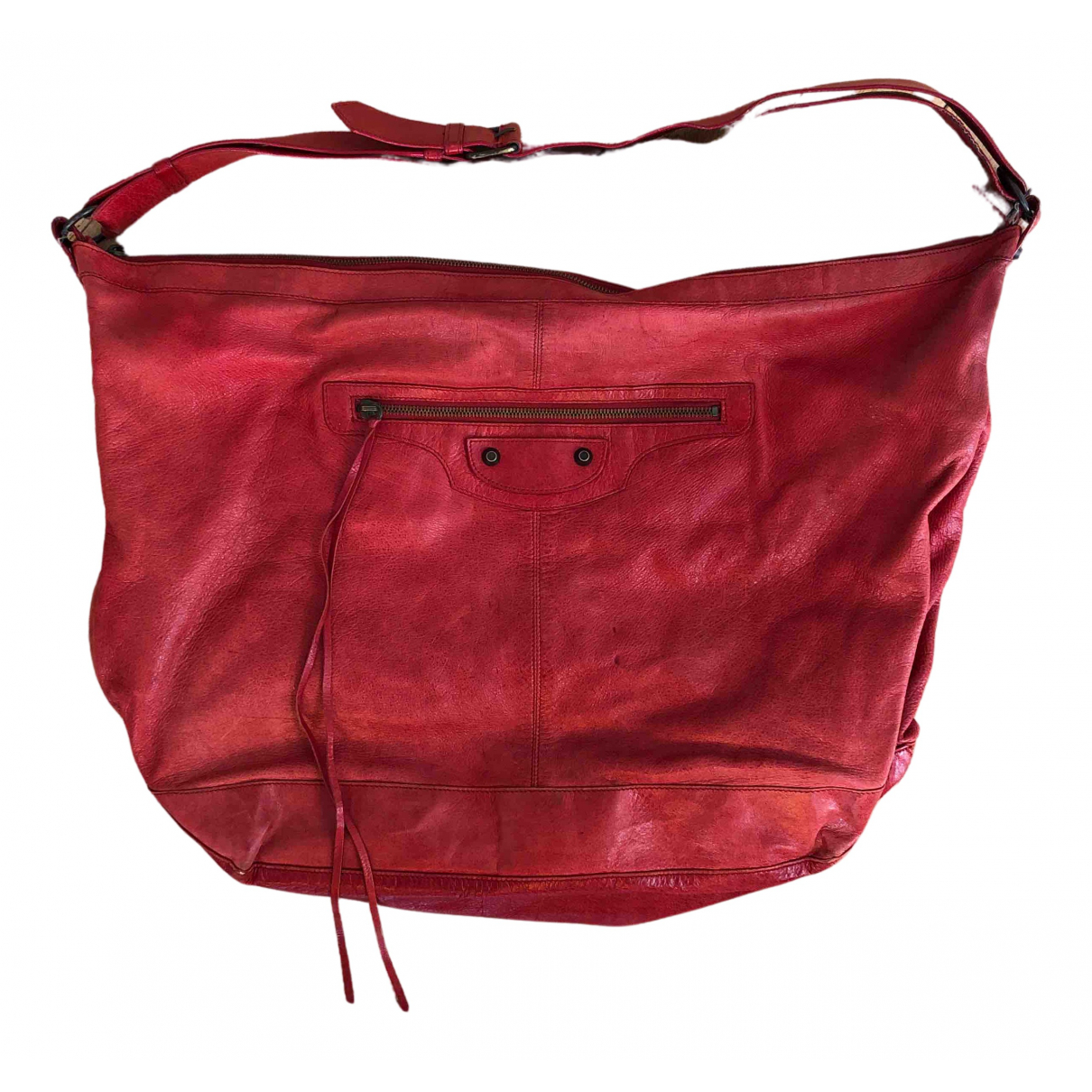 Balenciaga - Sac a main Courier XL pour femme en cuir - rouge