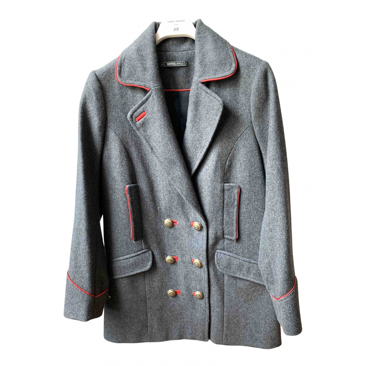 Non Signé / Unsigned N Grey Wool coat for Women S International