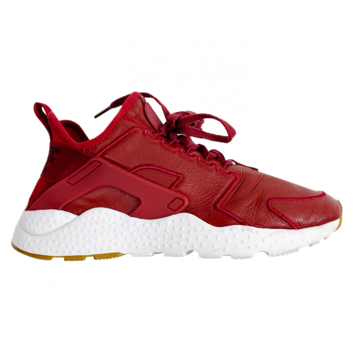 Nike - Baskets Huarache pour homme en cuir - rouge