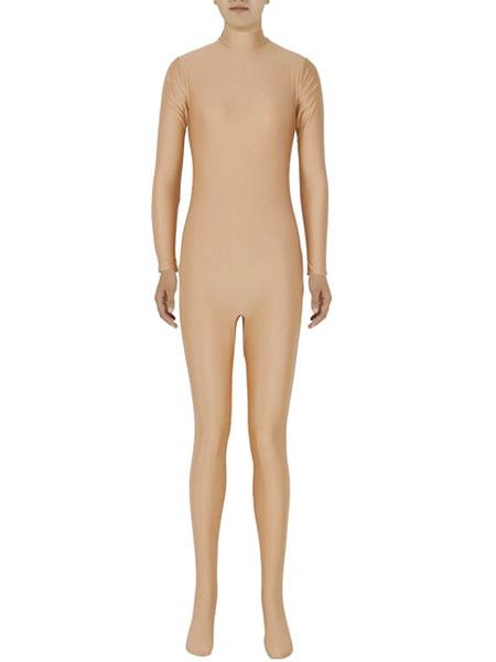 Milanoo Morph Suit Halloween Fawn Nude Zentai Slim Fit Spandex Jumpsuit for Women Halloween