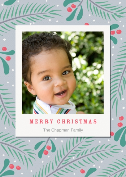 Christmas Photo Cards 5x7 Cards, Premium Cardstock 120lb with Rounded Corners, Card & Stationery -First Snow
