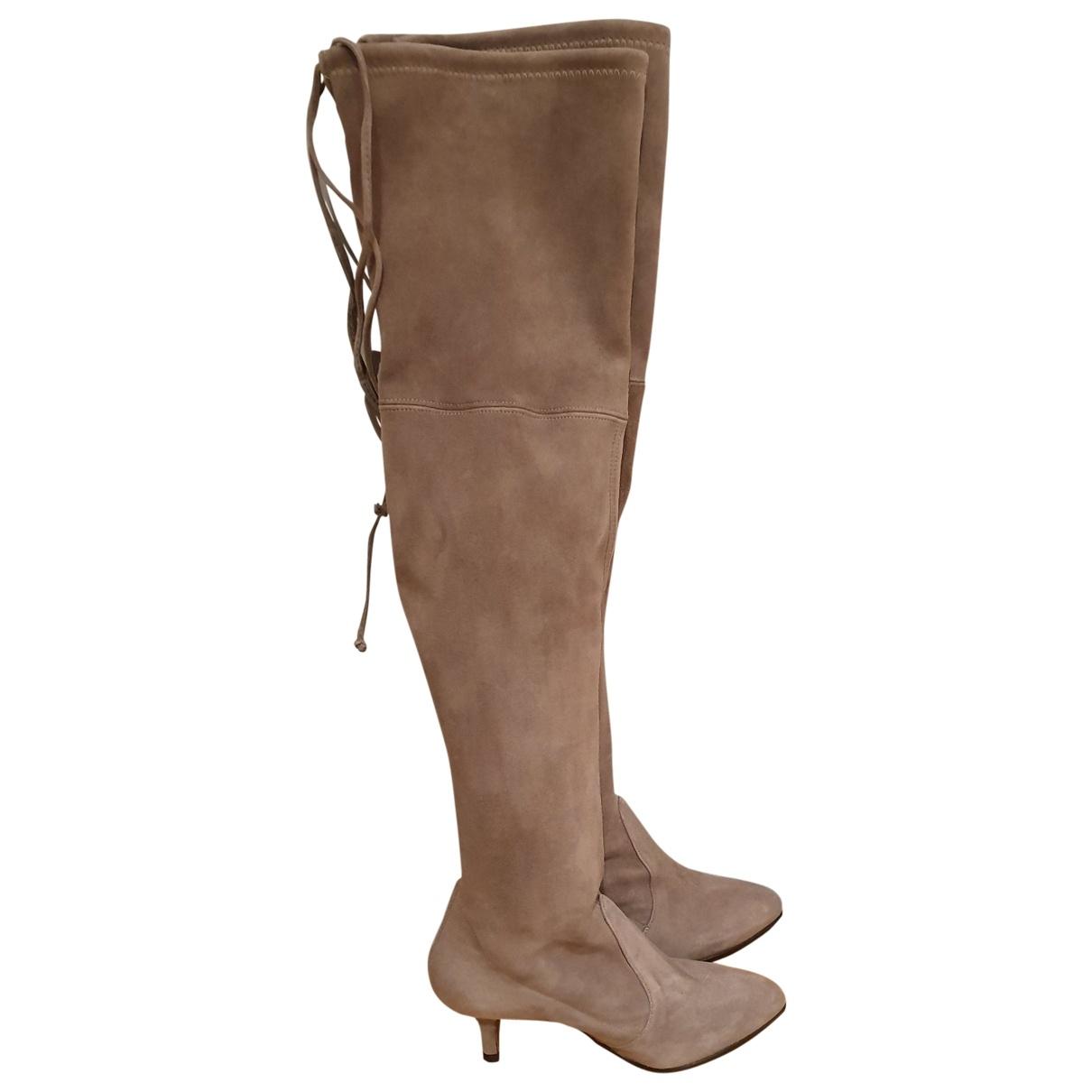 Stuart Weitzman \N Beige Suede Boots for Women 35 EU