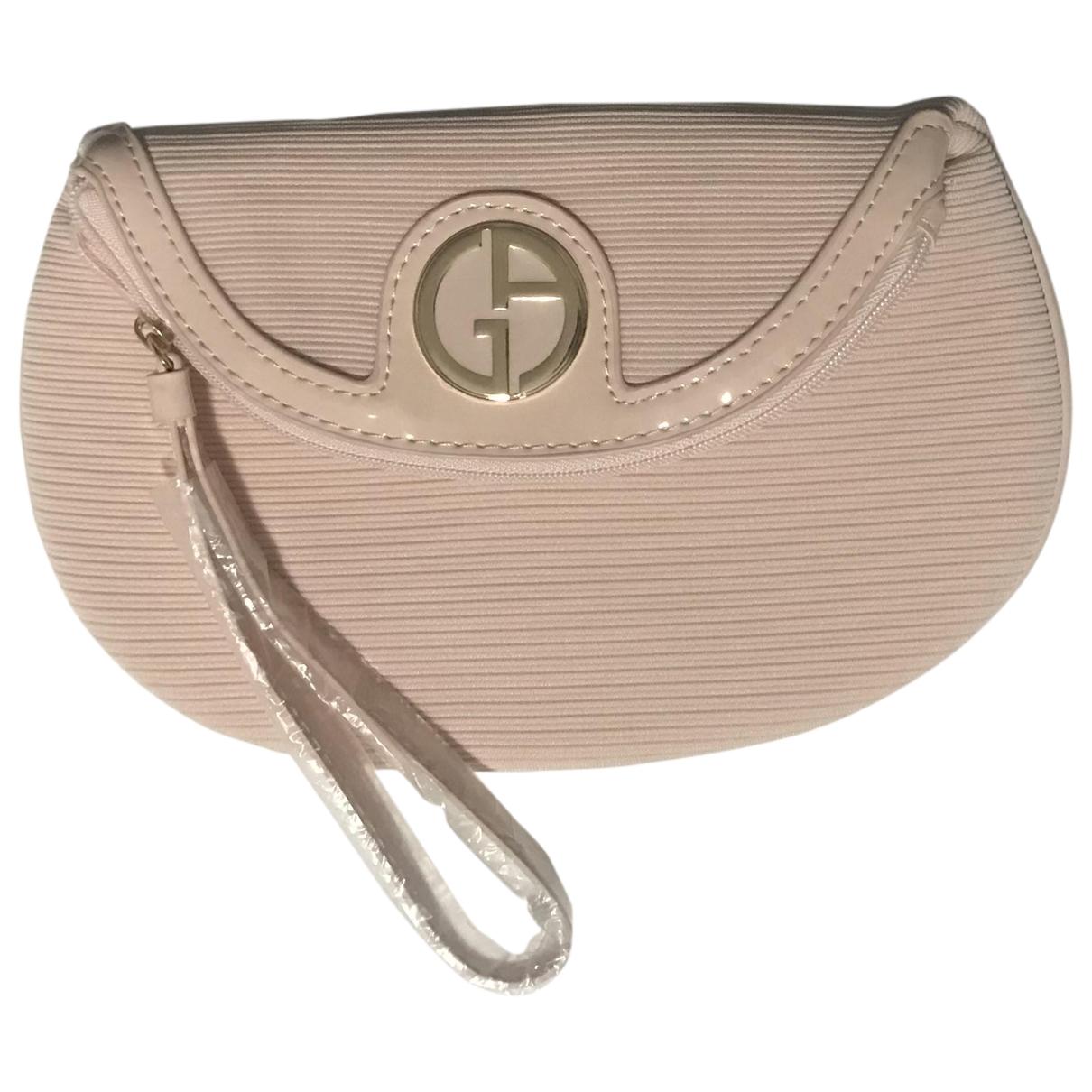 Giorgio Armani \N Pink Cloth Clutch bag for Women \N