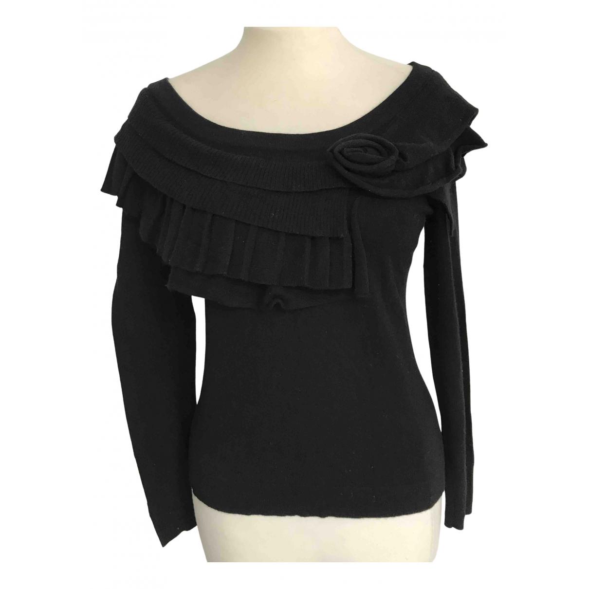 Carolina Herrera - Pull   pour femme en laine - noir