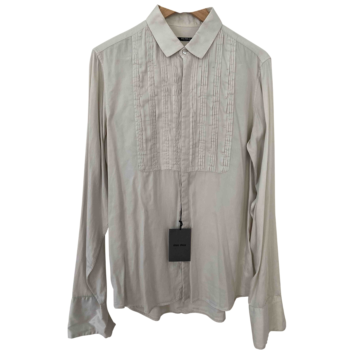 Miu Miu \N Hemden in  Ecru Baumwolle