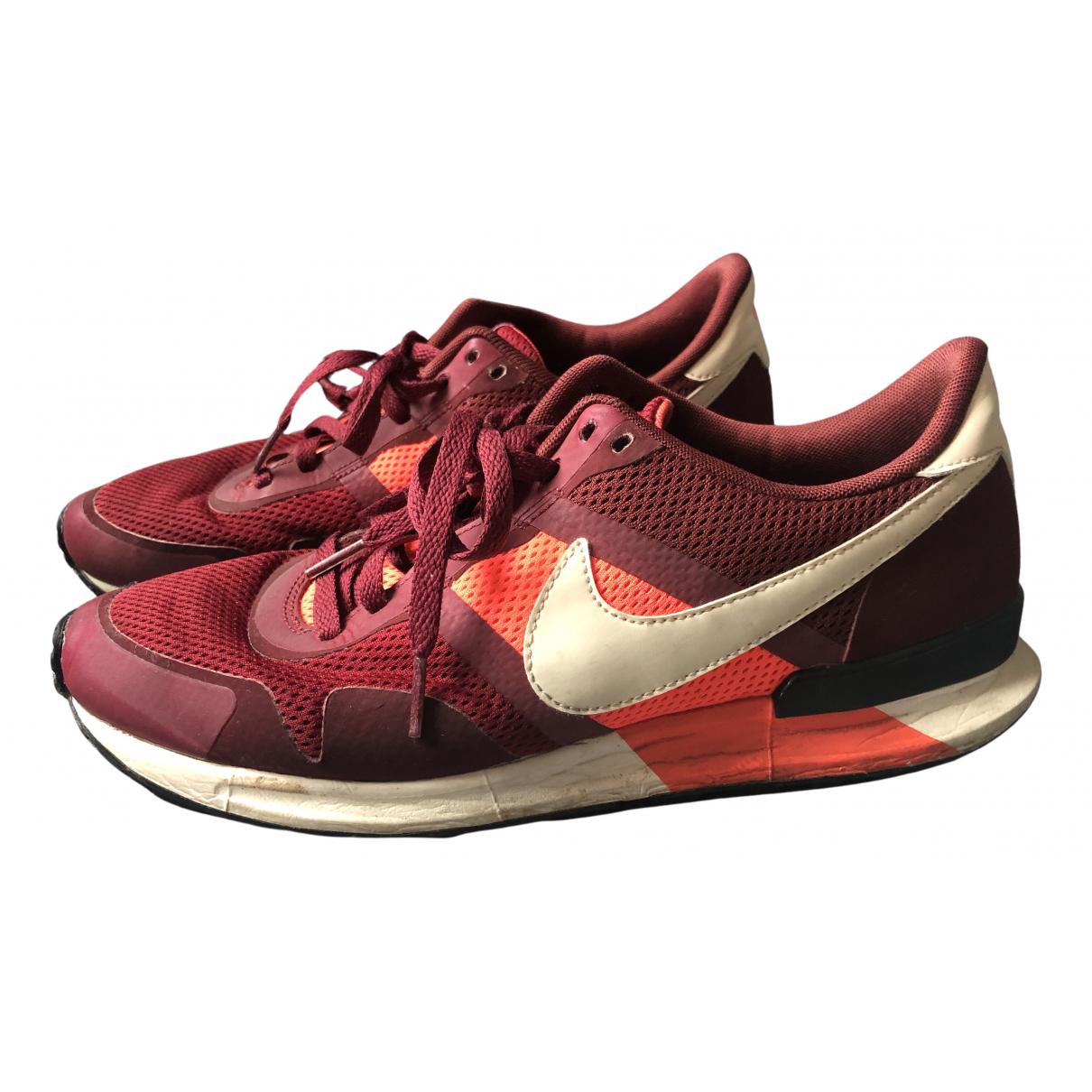 Nike - Baskets   pour homme en toile - bordeaux
