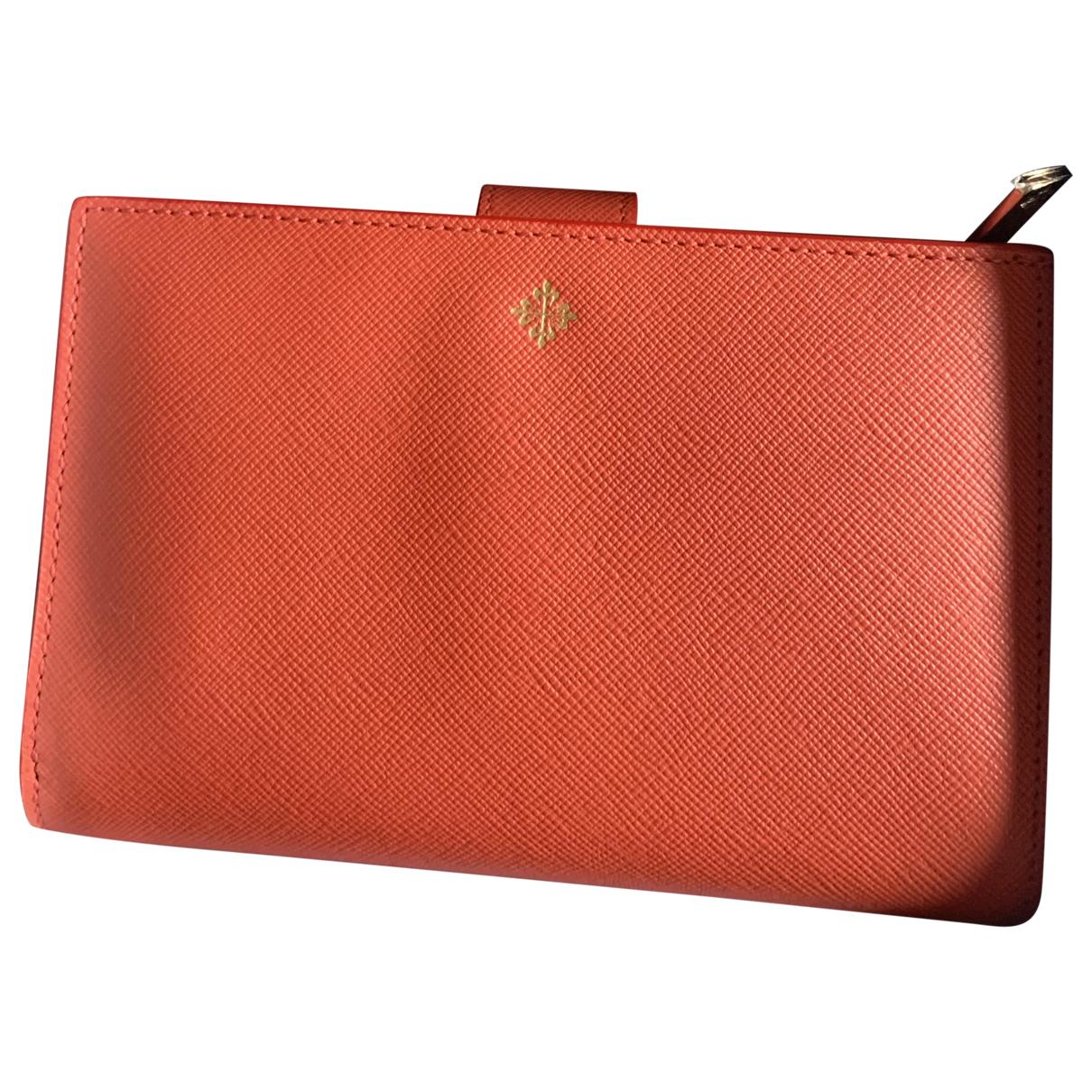 Patek Philippe N Orange Leather wallet for Women N