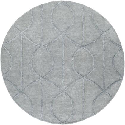 AWUB2160-8RD 8' Round Rug  in Medium Gray and