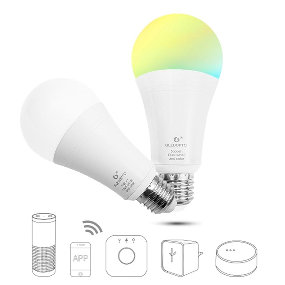 GLEDOPTO Zig.Bee GL-B-008Z E27 12W RGB+CCT Smart LED Bulb Work With Home Kit Philip HUE AC100-240V