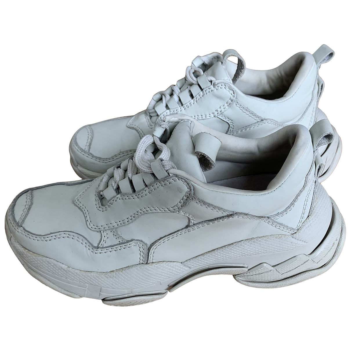 Jeffrey Campbell - Baskets   pour femme en cuir - blanc