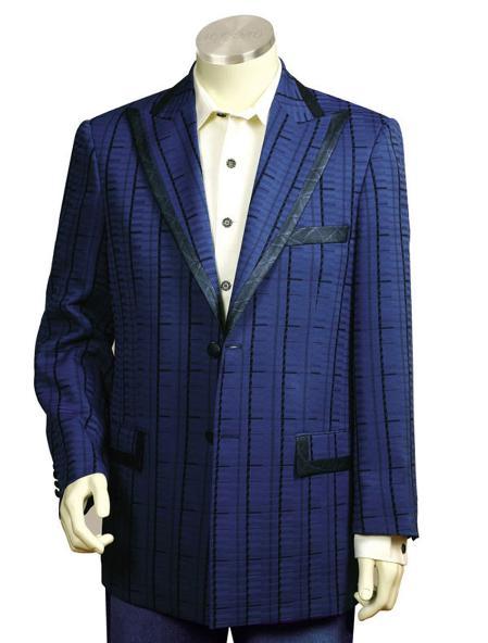 2 Button Navy Pinstripe Gangester Zoot  Suit Mens