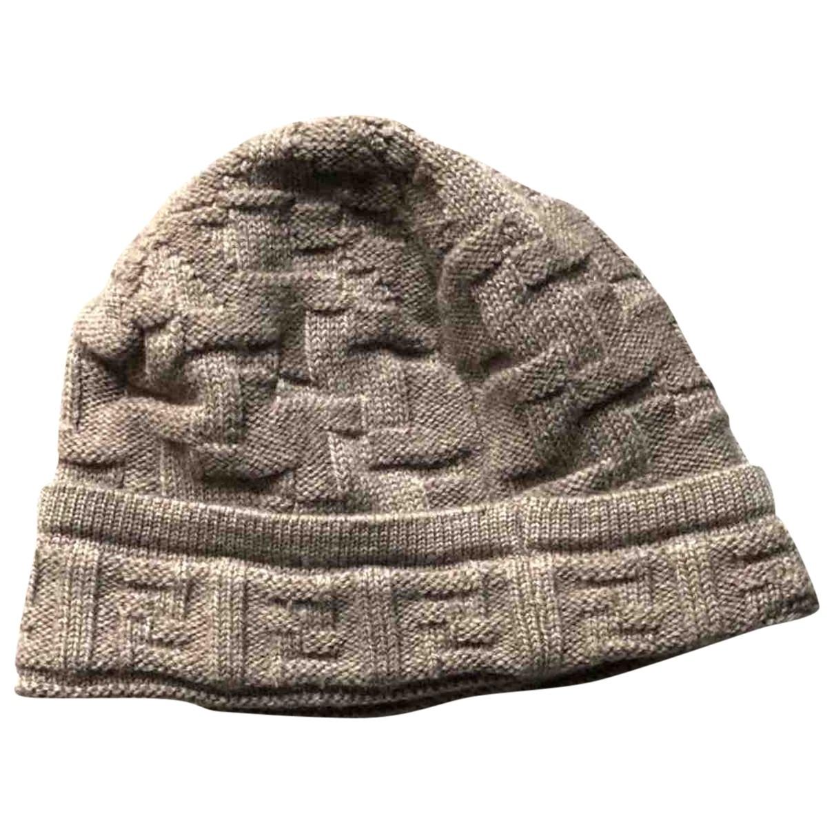 Fendi - Chapeau & Bonnets   pour homme en laine - beige