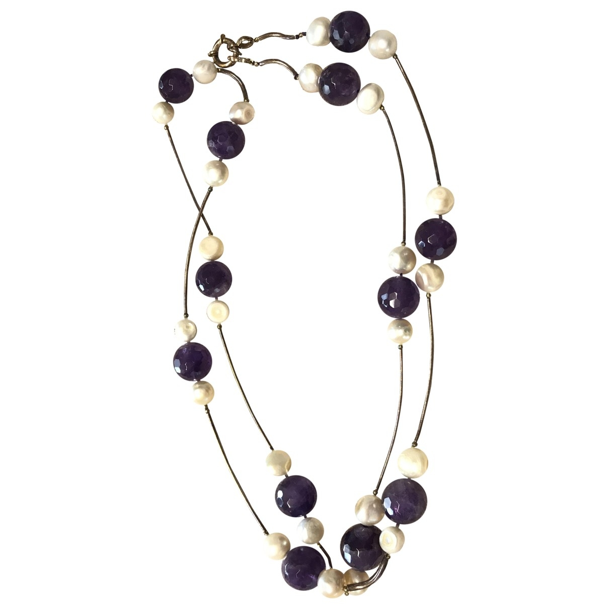 Non Signé / Unsigned Améthyste Purple Pearls Long necklace for Women \N