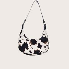 Cow Pattern Hobo Bag