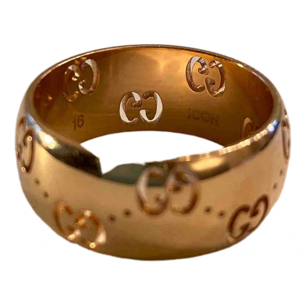 Gucci Icon Ring in  Gelb Gelbgold