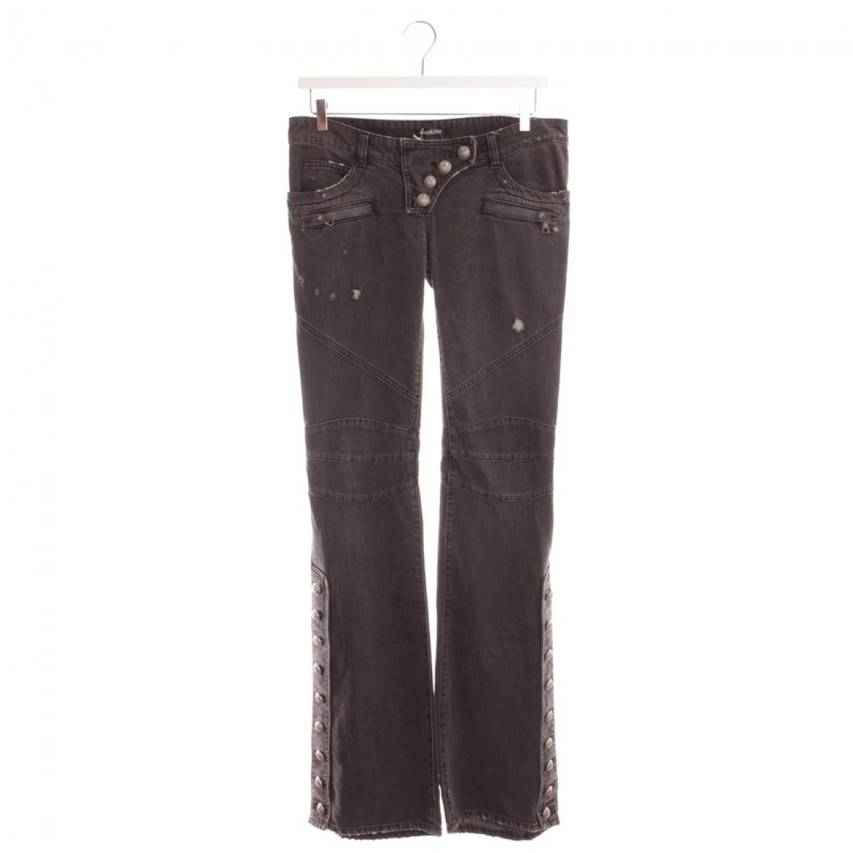 Balmain \N Grey Cotton Jeans for Women 38 FR