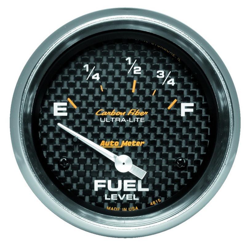AutoMeter GAUGE; FUEL LEVEL; 2 5/8in.; 73OE TO 10OF; ELEC; CARBON FIBER