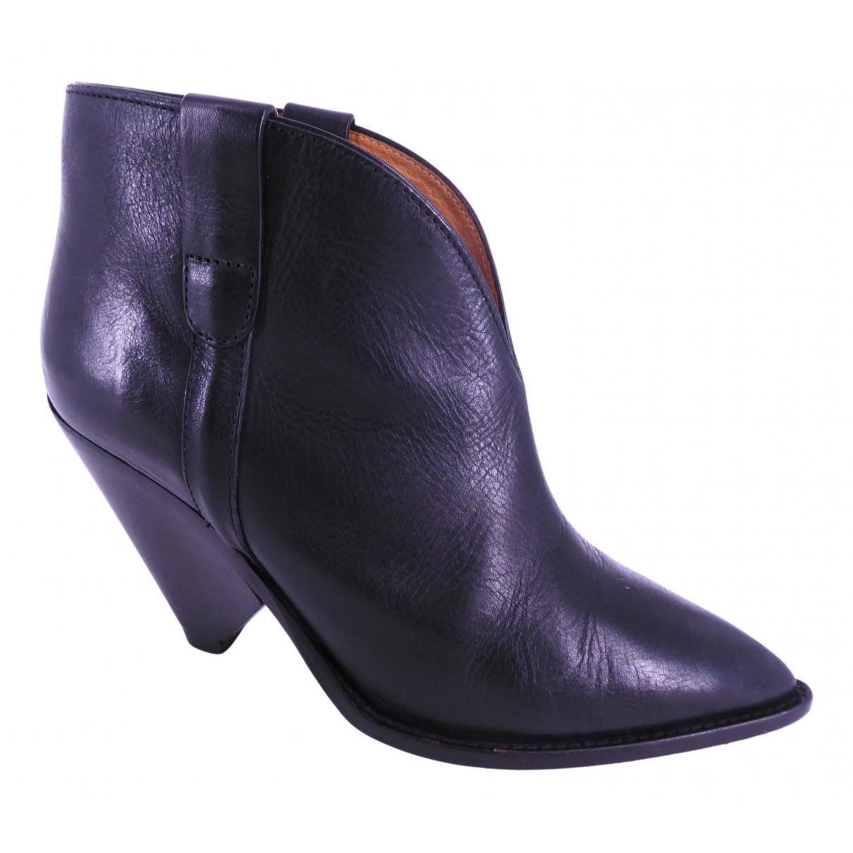 Isabel Marant N Black Leather Ankle boots for Women 38 EU
