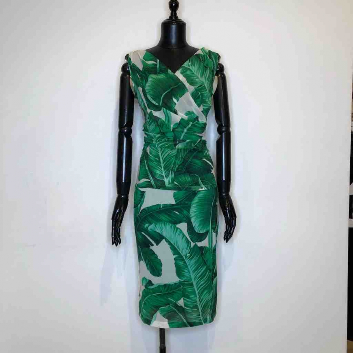 Dolce & Gabbana - Pull   pour femme en soie - vert