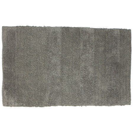 Castle Hill London Wide Cut Reversible Bath Rug Collection, One Size , Gray