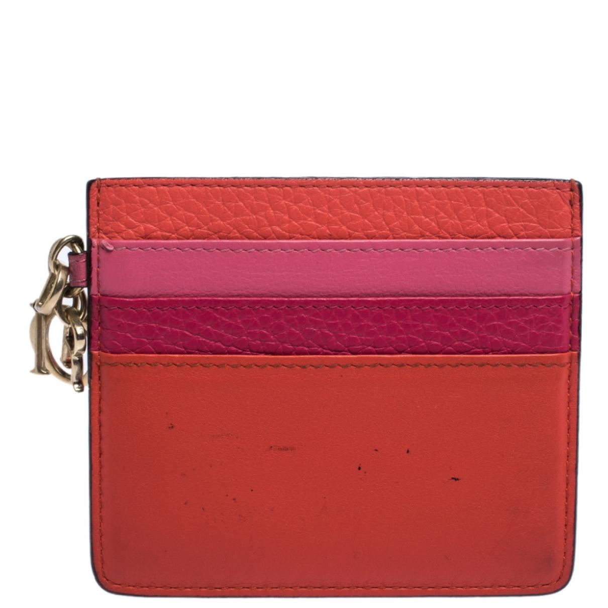 Dior - Portefeuille Lady Dior pour femme en cuir - multicolore