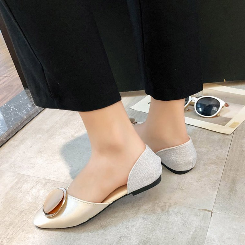 Ericdress PU Color Block Round Toe Slip-On Women's Flats
