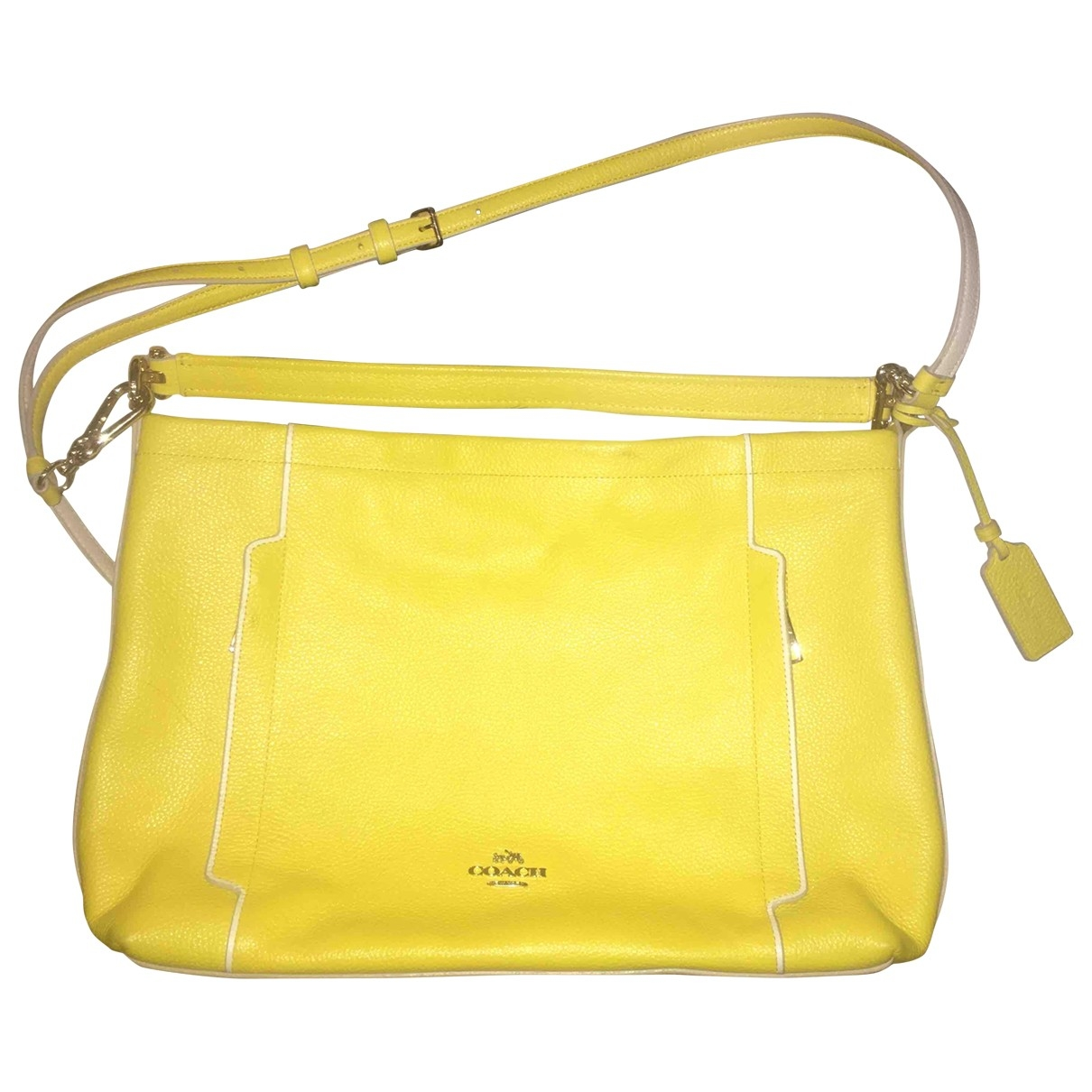 Coach Scout Hobo  Yellow Leather handbag for Women \N