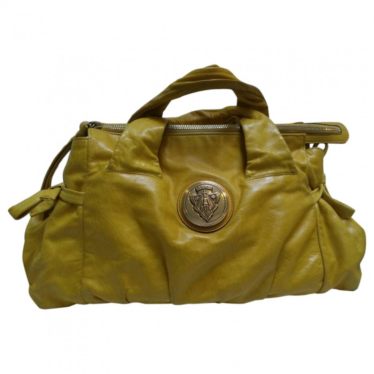 Gucci Hysteria Yellow Leather handbag for Women \N