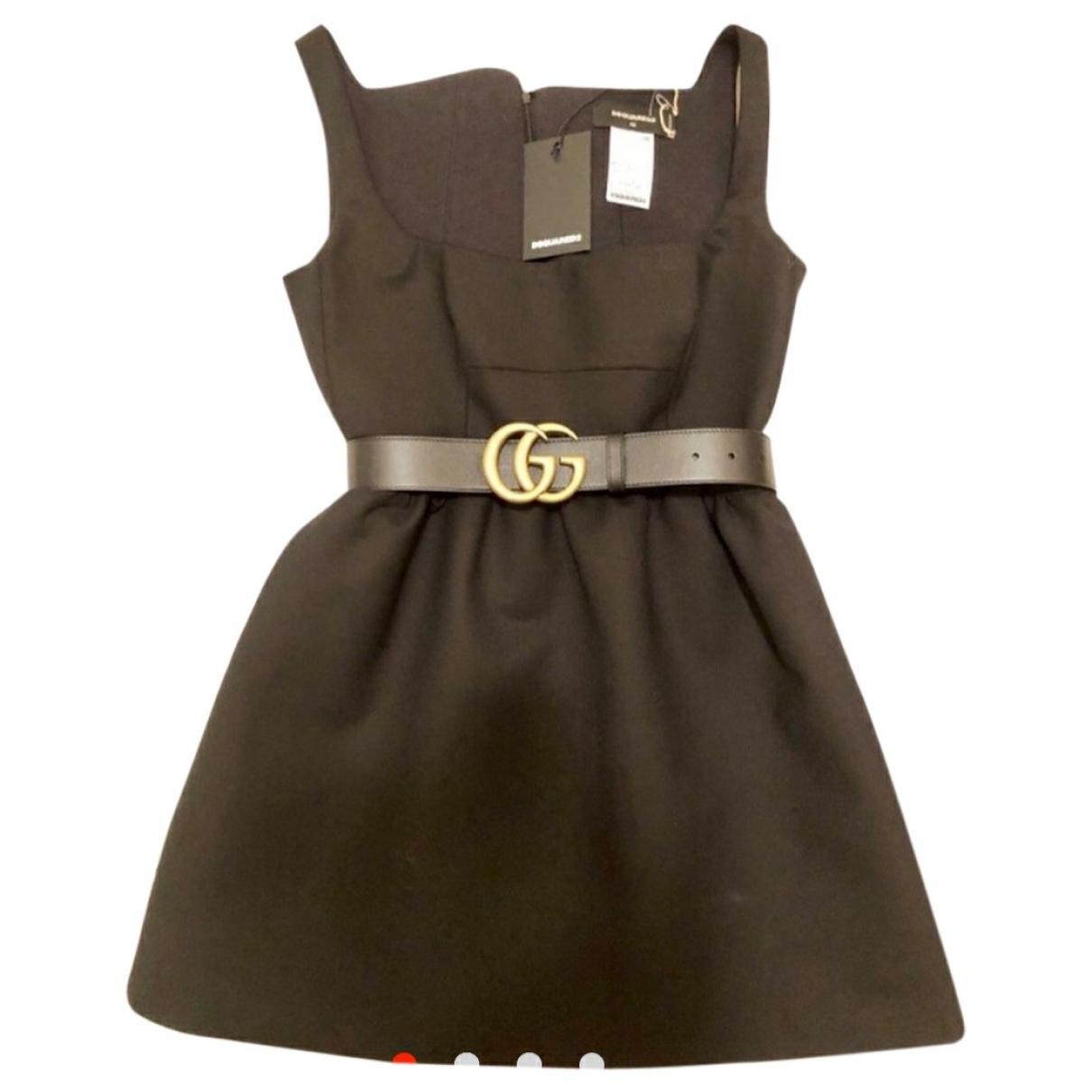 Dsquared2 \N Kleid in  Schwarz Baumwolle - Elasthan