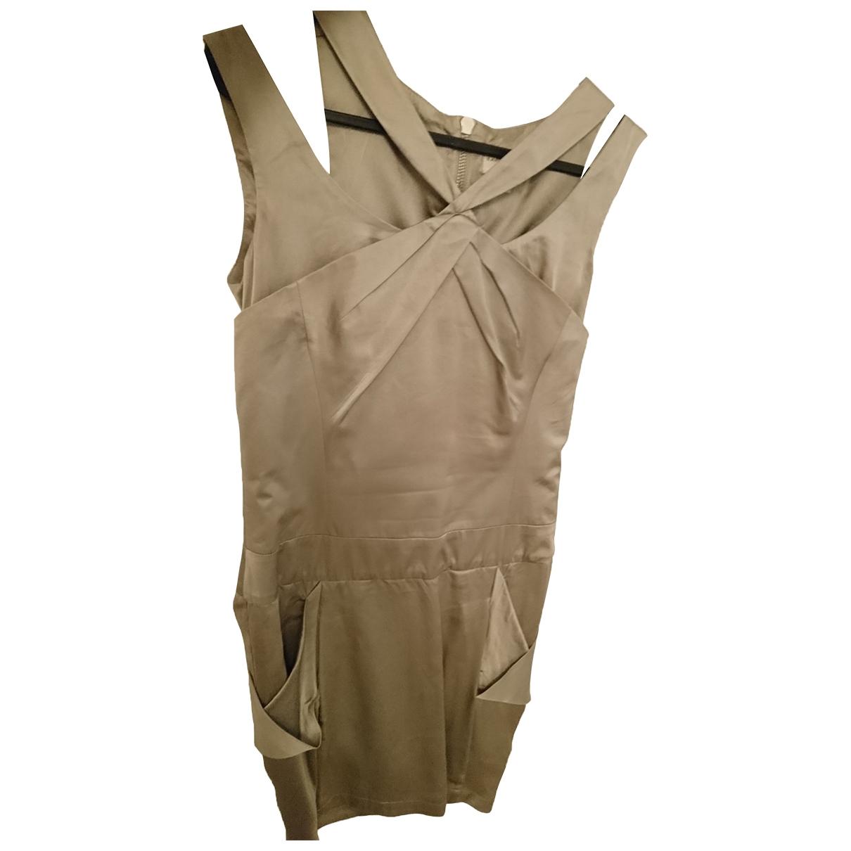 Karen Millen \N Kleid in  Metallic Seide