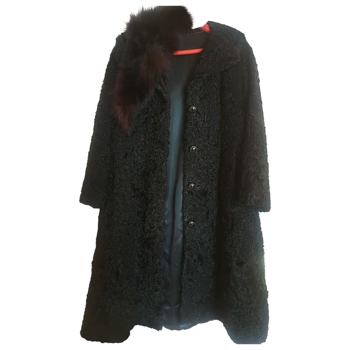 Non Signé / Unsigned \N Black Astrakhan coat for Women 38 FR