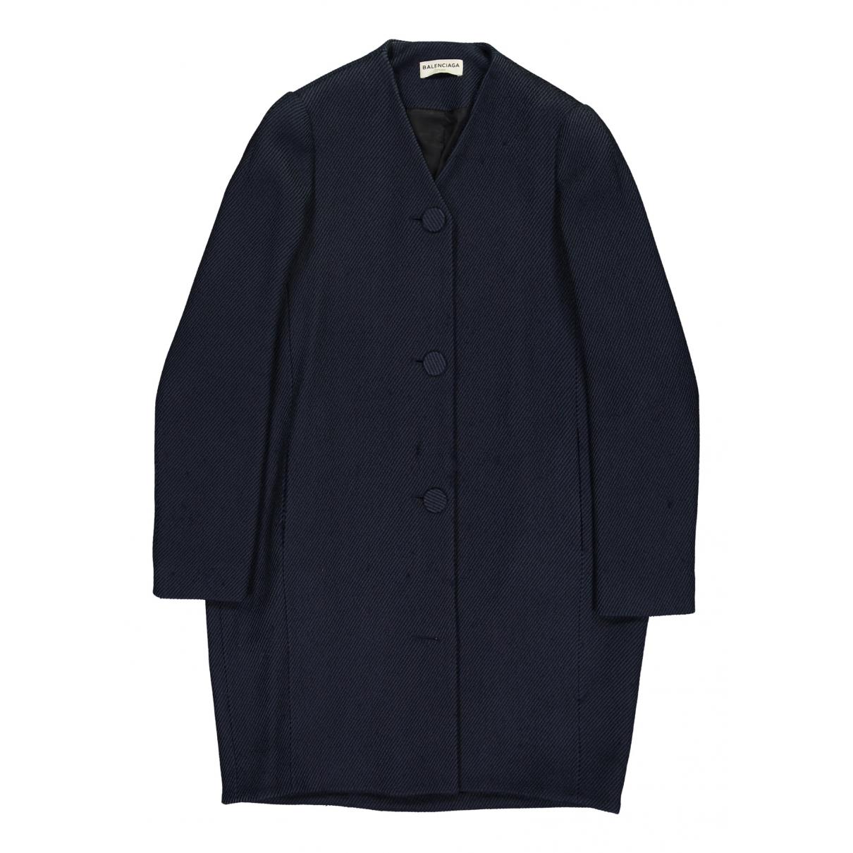 Balenciaga - Manteau   pour femme - marine