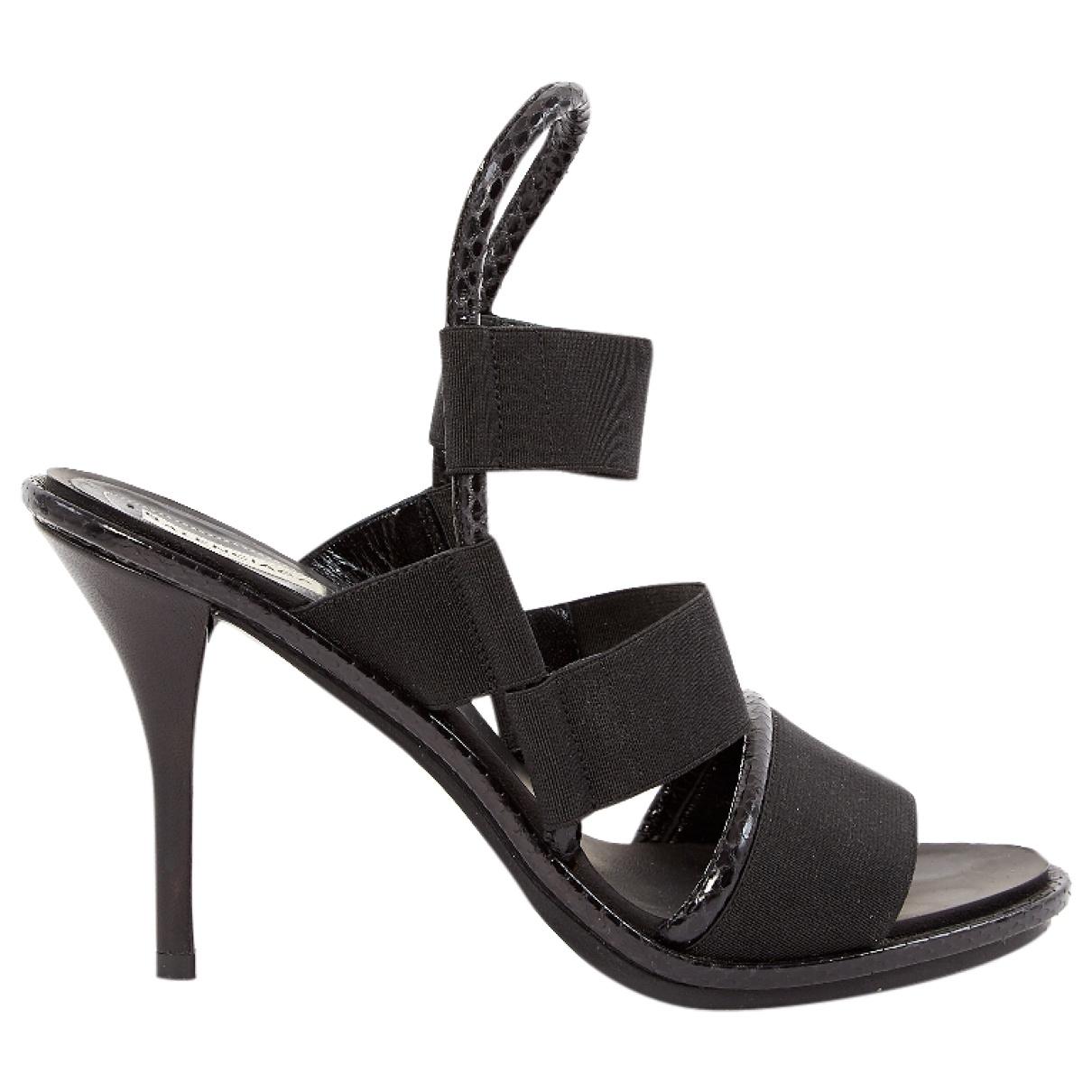 Balenciaga - Sandales   pour femme en toile - noir