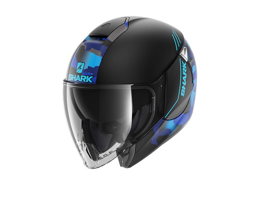 Shark Citycruiser Genom Mat KBB Black Blue Blue Jet Helmet M