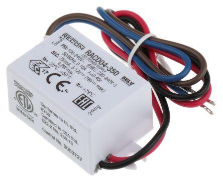 Recom RACD04 AC-DC Constant Current LED Driver 4.2W 3 → 12V dc