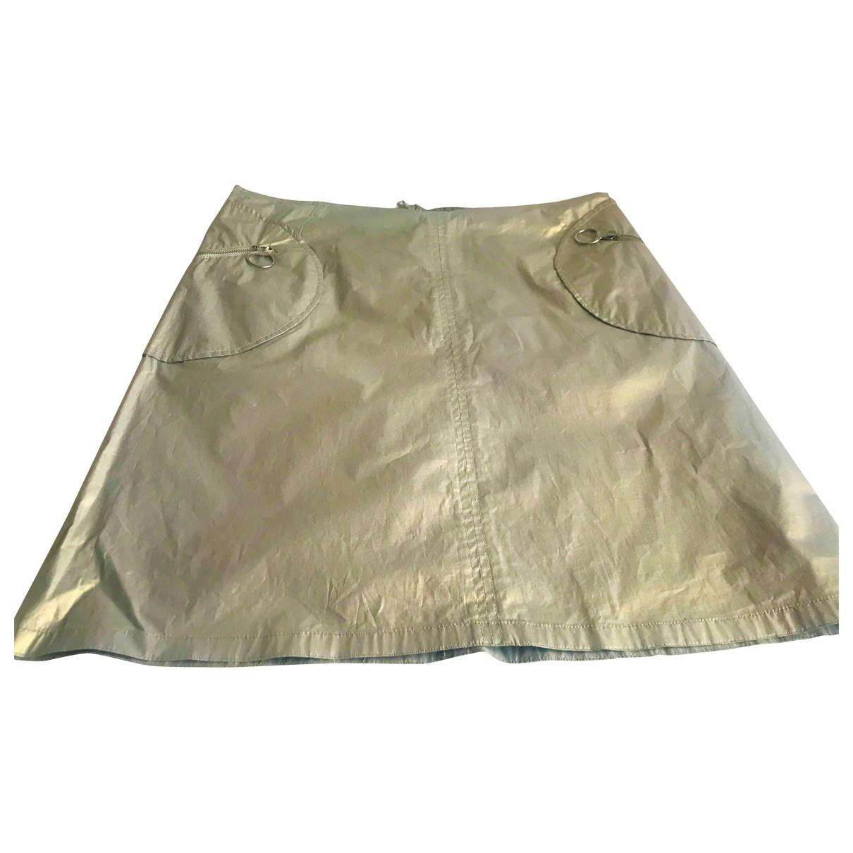 Prada \N Gold Cotton skirt for Women 42 IT